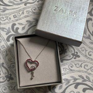 Zales- Ruby heart necklace